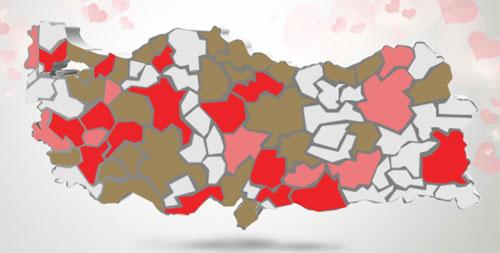 sevgililer günününde görmeye tahammül edemiyorum türkiye haritası