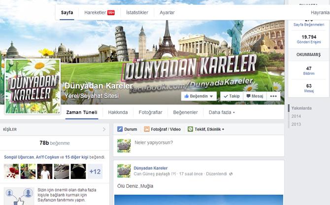 Facebook Sayfa Tasarımı